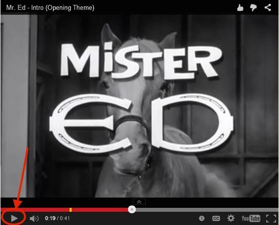 Mr Ed YouTube 9-10-15
